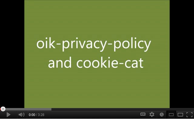 oik-privacy-policy and cookie-cat tutorial