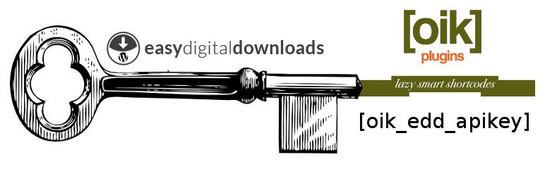 oik-edd – Easy Digital Downloads API keys