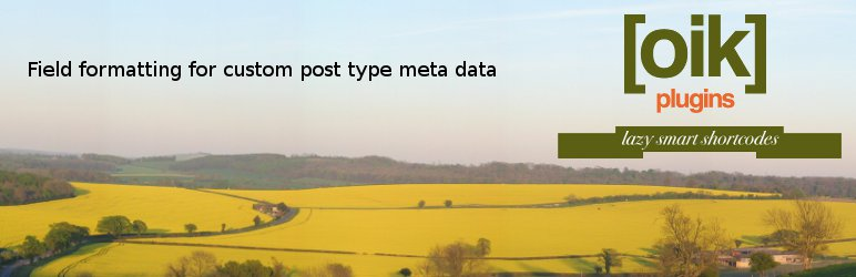 oik-fields – custom post type field APIs
